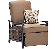 La-Z-Boy Select Outdoor Woven Recliner with Quick Dry Foam and Toss Pillow - M45862