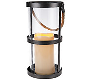 Scott Living 16 Battery Operated Rustic Hanging Lantern - M46562