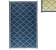 Barbara King Fret Design 5x 8 Reversible Outdoor Mat - M49163