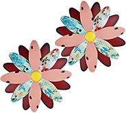 Ultimate Innovations Set of 2 Giant Flowers Wall Art - M51563