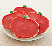 Cheryls 48-piece Buttercream Frosted Apple Cut-out Cookies - M110064