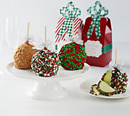 Mrs. Prindables 10 Large Caramel Apples w/ Holiday Gift Boxes - M115564