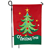 Fiber Optic Holiday Musical Flag w/ Motion Sensor by Evergreen - M46064