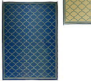 Barbara King Fret Design 8x 11 Reversible Outdoor Mat - M49164