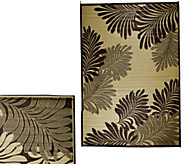 Barbara King Leaf 5x 8 Reversible Outdoor Mat - M49165