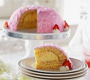 Sweet Endings 4 lbs. 12 oz. Pink Coconut Seasonal Bombe Cake - M50465