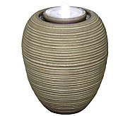 Scott Living Ribbed Ginger Jar Fountain with LED Lights - M52065