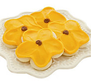 Cheryls 24-pc Buttercream Frosted Sunflower Cut-out Cookies - M110066