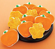 Cheryls 36 Buttercream-Frosted Leaf/Pumpkin-Shaped Cookies - M112966
