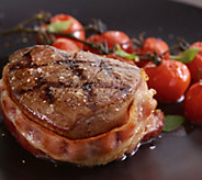 Kansas City Steak (4) 10-oz Bacon-Wrapped FiletMignon - M115466