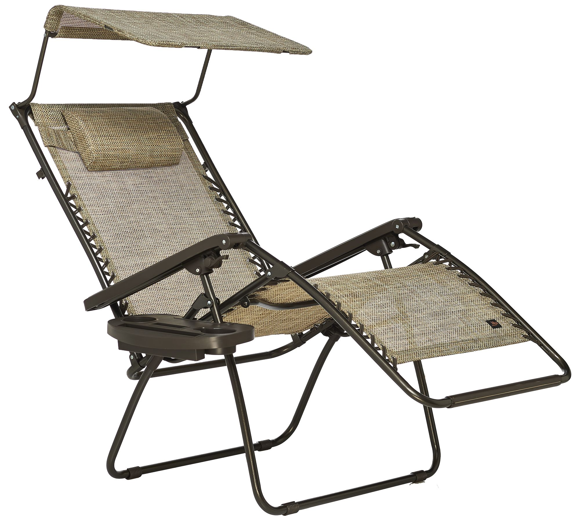 Bliss Hammocks Deluxe XXL Gravity Free Recliner w/Canopy & Tray - Page 1 —  QVC.com
