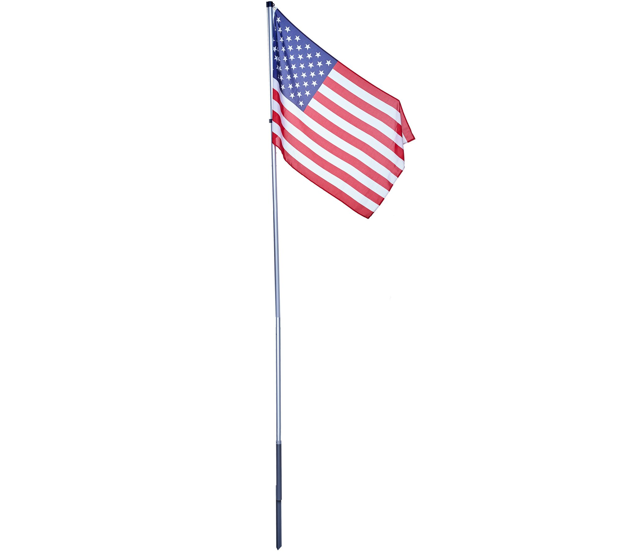 American Pride Tangle Free 12' Flag Pole with American ...