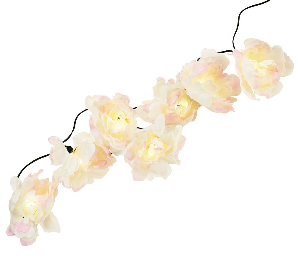 Qvc Solar String Lights : 18 Floral Solar Light String Set by Smart Solar - Page 1 QVC.com