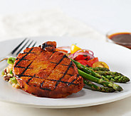 Corkys BBQ (8) 6 oz. BBQ Rubbed Seasoned Boneless Pork Chops w/ Sauce - M47368