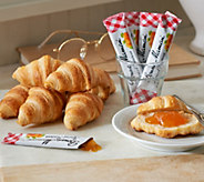 Authentic Gourmet (50) Mini Croissants w/ (50) Bonne Maman Packets - M49668