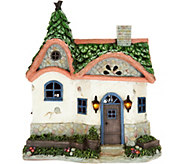 Plow & Hearth Solar Fairy Garden Cottage - M53368