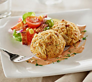 Great Gourmet (8) 4 oz. Cheezy Crab & Bacon Cakes - M48869