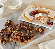 Ships 11/7 Racine Danish (2) 22oz Cherry Cheesecake and Turtle Kringles - M51569