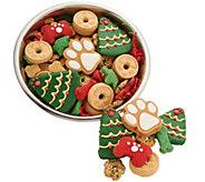 Claudias Canine Bakery 24 oz. Dog Bowl with Holiday Treats - M55469