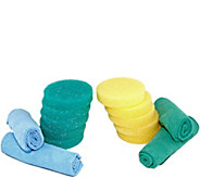 Bio Cleaner 10 Clay Cleaner Sponges & 4 Microfiber Towels - M115372