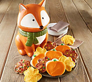 Cheryls Fox Cookie Jar with 12 Frosted Cookies - M116072