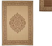 Veranda Living Naturals Indoor/Outdoor 5x7 Medallion Reversible Rug - M48172
