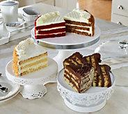 Ships 4/10 Juniors 5 lb. 4-Flavor Layer Cake Sampler - M54472