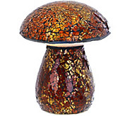 Plow & Hearth Light Up Mosaic Mushroom - M48773