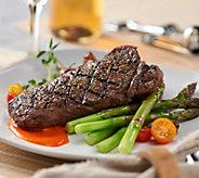 Rastelli Market Fresh (8) 10 oz. Black Angus NY Strip Steaks - M54773