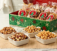 SH 11/6 The Popcorn Factory (12) 8 oz. Bags Holiday Gourmet Popcorn in Box - M55373