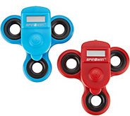 Spin2Win Set of 2 Fidget Spinners w/ Performance Trackers - M55773