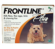 Frontline Plus Dog 1-22lb 3-Pack - M109674