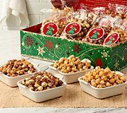 SH 12/4 The Popcorn Factory (12) 8 oz. Bags Holiday Popcorn Popcorn in Box - M55374