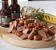 Corkys BBQ 6 lbs. Seasoned Smoked Sausage & (2) 18 oz. Corkys Sauce - M54775