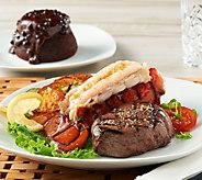 Ships 12/4 Rastelli (4) 6 oz. Filet Mignon, (4) Lobsters & Cake - M55275