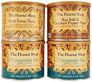The Peanut Shop of Williamsburg Set of 4 Seashore Snack Tin Collection - M55475