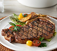 Rastelli (6) 14 oz Black Angus Bone In NY Strip Steaks - M56375