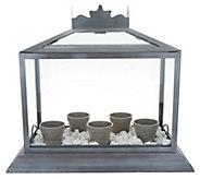Martha Stewart Terrarium with 5 Flower Pots & Decorative Rock - M57475