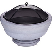 Scott Living 28 Patio Fire Pit with Grate, Poker and Mesh Spark Guard - M52176