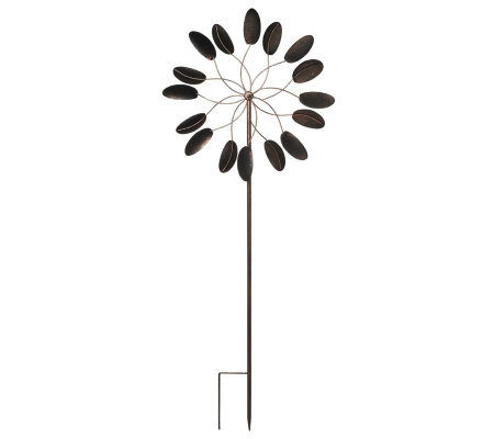 Plow & Hearth 6 ft. Steel Kinetic Garden Wind Spinner