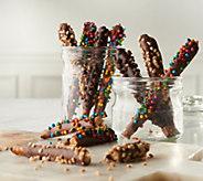 Mrs. Prindables 24-pc Caramel & Chocolate Dipped Pretzel Rod Assortment - M57877