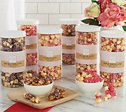 Hampton Popcorn 6-Lg Valentine Candy Inspired Popcorn Tubes - M57977