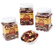Germack (3) 16oz. Jars Cherry Berry Unsalted Nut Mix - M22878