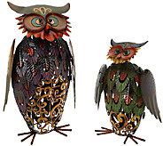 Plow & Hearth Prismatic Owl Pair - M47278