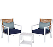 ATLeisure 3 Piece Deep Seating Patio Set with Cushions - M49478
