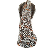 12 Stone Loving Angel Garden Statue - M51778