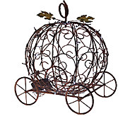 Plow & Hearth Indoor/Outdoor Pumpkin Carriage with LED Lights - M47179