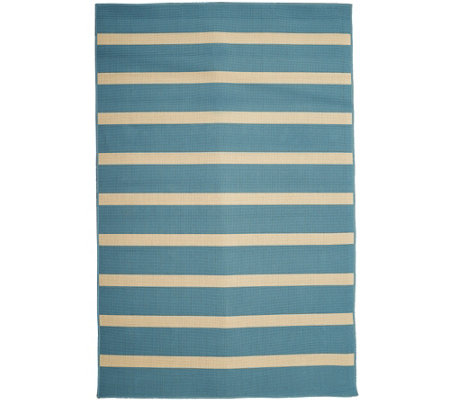 Tommy Bahama Indoor Outdoor 5x7 Awning Stripe Rug M