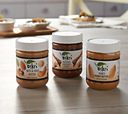 Oskri (6) 12 oz Assorted Nut Butter Jars Sampler - M56279
