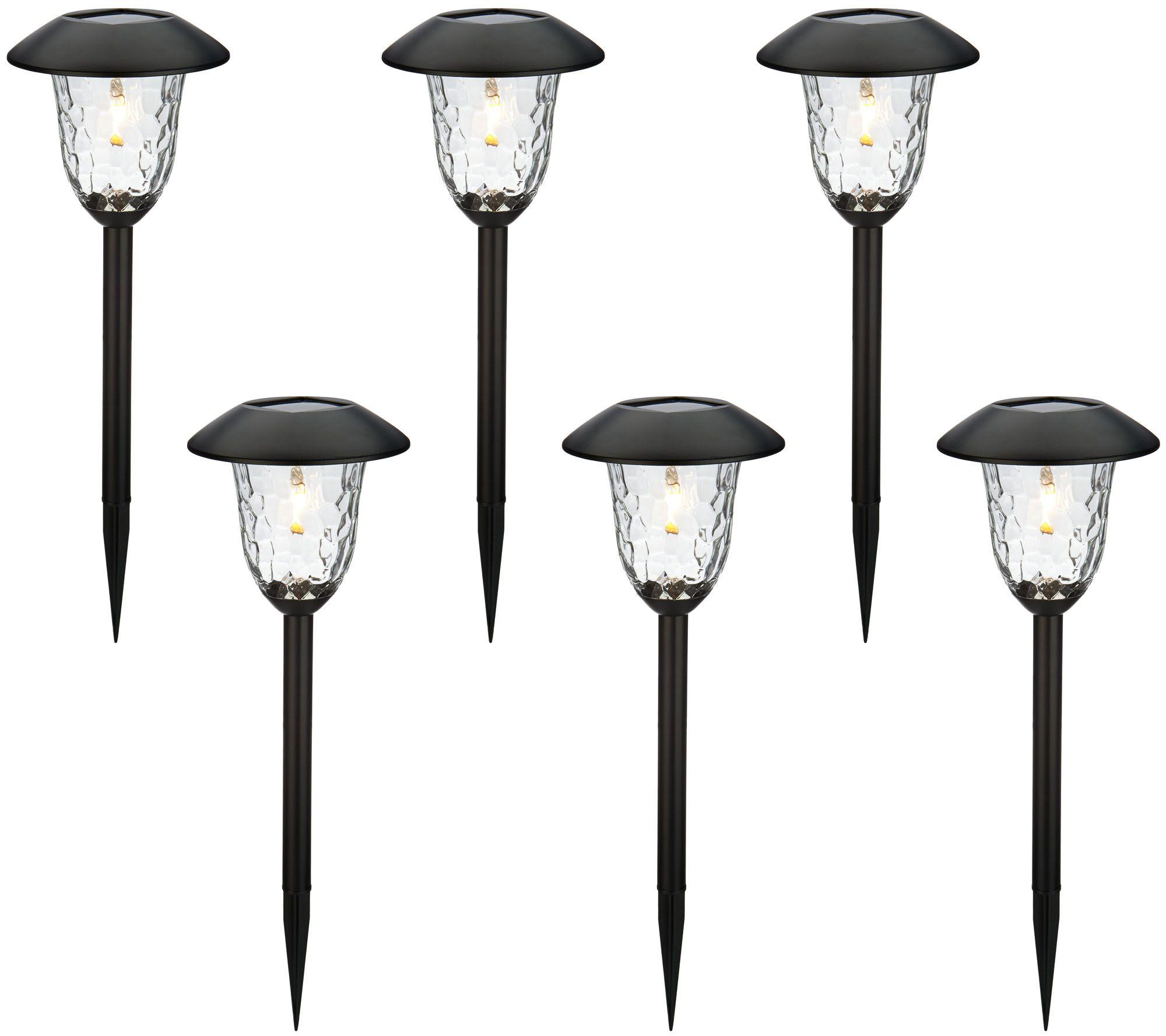 Qvc Outdoor Wall Lights: Paradise Set Of 6 V-Filament Solar Light Set